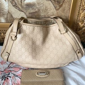 Authentic Guccissima GG monogram Gucci and Wallet